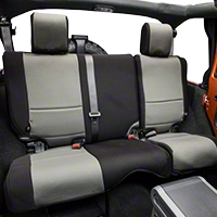 Rugged Ridge Neoprene Rear Seat Cover, Black/Grey (07-13 Wrangler JK 4 Door) - Rugged Ridge 13264.09
