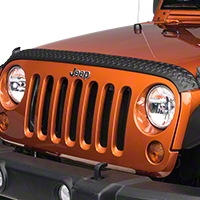 Rugged Ridge Body Armor Hood Stone Guard, Black (07-13 Wrangler JK) - Rugged Ridge 11651.17