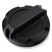 Rugged Ridge Brake Master Cylinder Cap, Black Billet Aluminum (07-11 Wrangler JK) - Rugged Ridge 11431.02