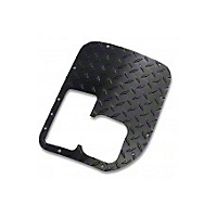 Warrior Products Brushed Alum. D/T Shifter Cover w/o Cutouts (87-96 Wrangler YJ) - Warrior Products 60742