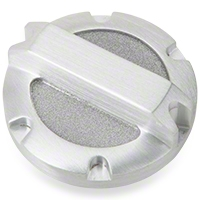 Rugged Ridge Brushed Billet Aluminum Brake Master Cylinder Cap (07-11 Wrangler JK) - Omix-ADA 11430.02