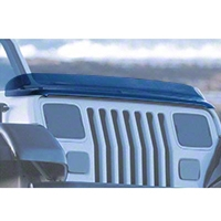 Rugged Ridge Bug Deflector, Smoked (87-06 Wrangler YJ & TJ) - Omix-ADA 11350.01