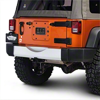 Rugged Ridge Bumper Applique, Rear, Silver (07-13 Wrangler JK) - Rugged Ridge 12040.09