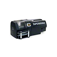 Superwinch C1000, Crane winch, 12V DC With Roller Fairlead, Motor Cover and 15' Handheld Remote (Universal Application) - Superwinch 3002
