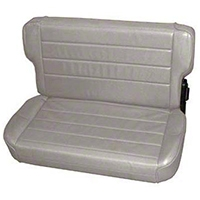 Smittybilt Fold and Tumble Rear Seat Vinyl, Charcoal Light Gray Denim (87-95 Wrangler YJ) - Smittybilt 41311
