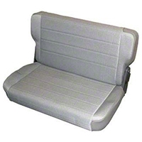 Smittybilt Standard Rear Seat Vinyl, Charcoal Light Gray Denim (87-95 Wrangler YJ) - Smittybilt 8011N