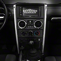 Rugged Ridge Chrome Center Dash Accent - Pair (07-10 Wrangler JK) - Rugged Ridge 11156.14