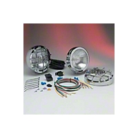 KC Hilites 2 SlimLite Lights, 100W, Fog, Chrome, 6 in. Round (Universal Application) - KC Hilites 126