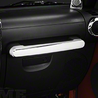 Rugged Ridge Chrome Front Grab Bar Handle Trim (07-10 Wrangler JK 4 Door) - Rugged Ridge 11156.15