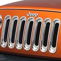 Rugged Ridge Chrome Grille Inserts (07-14 Wrangler JK) - Rugged Ridge 11306.2