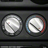 Rugged Ridge Climate Control Knob Set, Billet Style Aluminum w/ Red Indicators, 3 Piece (07-10 Wrangler JK) - Rugged Ridge 11420.06