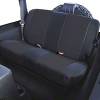 Rugged Ridge Custom Fabric Rear Seat Cover - Black (87-95 Wrangler YJ) - Rugged Ridge 13280.01