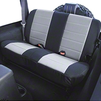 Rugged Ridge Custom Fabric Rear Seat Cover - Gray/Black (87-95 Wrangler YJ) - Rugged Ridge 13280.09
