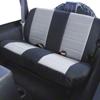Rugged Ridge Custom Fabric Rear Seat Cover - Gray/Black (03-06 Wrangler TJ) - Rugged Ridge 13282.09