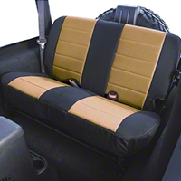 Rugged Ridge Custom Fabric Rear Seat Cover - Tan/Black (87-95 Wrangler YJ) - Rugged Ridge 13280.04