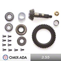 Omix-ADA Dana 30 Ring & Pinion Kit 3.55 Ratio, 39X11 Teeth (97-04 Wrangler TJ) - Omix-ADA 16513.31