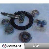 Omix-ADA Dana 44 Ring & Pinion Kit 3.31 Ratio for Flanged Axle Shafts (97-04 Wrangler TJ) - Omix-ADA 16513.65