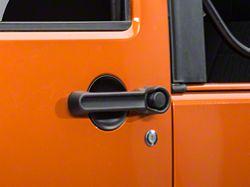 Rugged Ridge Door Handle Recess Guards-3Pc Kit, Black (07-16 Wrangler JK 2 Door)