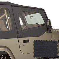 Omix-ADA Door Skins - Pair, Diamond Black (88-95 Wrangler YJ) - Omix-ADA 13716.35