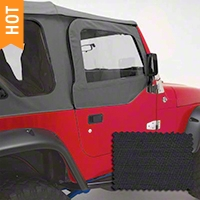 Rugged Ridge Door Skins, Diamond Black (97-06 Wrangler TJ) - Rugged Ridge 13717.35