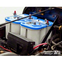 Rugged Ridge Dual Battery Tray Kit (91-95 Wrangler YJ) - Rugged Ridge 11214.51
