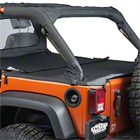 Bestop Duster Deck Cover Extension, Black (07-13 Wrangler JK 4 Door) - Bestop 90034-35