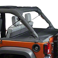 Bestop Duster Deck Cover, Black (07-13 Wrangler JK 4 Door) - Bestop 90031-35