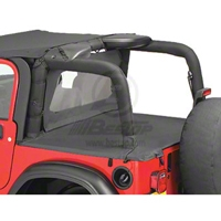 Bestop Duster Deck Cover, Black Diamond (03-06 Wrangler TJ, Soft Top) - Bestop 90012-35