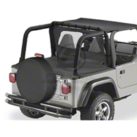 Bestop Duster Deck Cover, Black Denim (97-02 Wrangler TJ w/Hard Top) - Bestop 90020-15