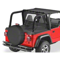 Bestop Duster Deck Cover, Black Denim (97-02 Wrangler TJ w/Soft Top) - Bestop 90019-15