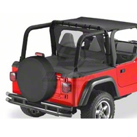 Bestop Duster Deck Cover, Black Denim (97-02 Wrangler TJ) - Bestop 90011-15