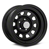 Rugged Ridge D-Window Black Steel Wheel 15x8 (87-06 Wrangler YJ & TJ) - Rugged Ridge 15500.01