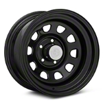 Rugged Ridge D-Window Black Steel Wheel 15x8 (87-06 Wrangler YJ & TJ) - Rugged Ridge 15500.01||15500.01