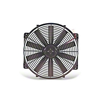 Flex-a-lite Electric Fan 14 in.,3-3/4 in. Width 14.5 in. Mounting Area w/o Control w/Straight Blade (Universal Application) - Flex-a-lite 114