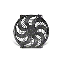 Flex-a-lite Electric Fan 14 in.,3-3/4 in. Width 14.5 x 14 in. Mounting Area w/o Control And w/S-Blade (Universal Application) - Flex-a-lite 394