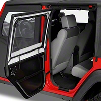 Bestop Element Front Upper Doors (07-13 Wrangler JK 4 Door) - Bestop 51805-35