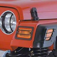 Smittybilt Black 4-Piece Euro Turn Signal Guards (97-06 Wrangler TJ) - Smittybilt 5670