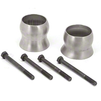 Rugged Ridge Exhaust Spacer Kit w/ 2.5-Inch + Lift (12-13 Wrangler JK) - Rugged Ridge 17606.76