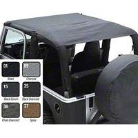 Smittybilt Extended Brief Top, Black Denim (97-06 Wrangler TJ) - Smittybilt 93615