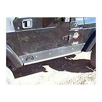 Fab Fours Rock Sliders (97-06 Wrangler TJ) - Fab Fours TJ97-G1051-B