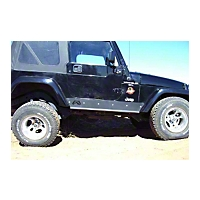 Fab Fours Rock Sliders (04-06 Wrangler TJ Unlimited) - Fab Fours LJ05-G1151-B