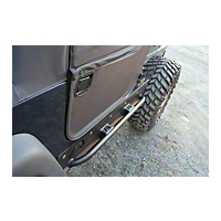 Fab Fours Rock Sliders w/Tube (97-06 Wrangler TJ) - Fab Fours TJ97-G1050-B
