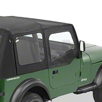 Bestop Fabric Replacement Door Skins - Pair, Black Denim (88-95 Wrangler YJ) - Bestop 53120-15