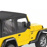 Bestop Fabric Replacement Upper Door Skins, Black Denim (97-06 Wrangler TJ) - Bestop 53121-15