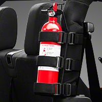 Rugged Ridge Black Sport Bar Fire Extinguisher Holder (Universal Application) - Omix-ADA 13305.21