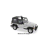 Pavement Ends Flip Top w/Upper Half Doors, Black Denim (97-02 Wrangler TJ) - Pavement Ends 44587-15