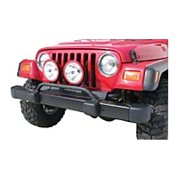 Olympic 4x4 Bumper Mounted Auxiliary Light Bar (97-06 Wrangler TJ) - Olympic 4x4 180-121