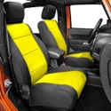 Coverking Front Neoprene Seat Cover, Black/Yellow (07-10 Wrangler JK 4 Door) - Coverking SPC181