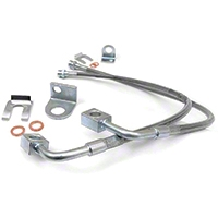 Rough Country Front Stainless Steel Brake Lines w/ 4-6 In. lift (07-14 Wrangler JK) - Rough Country 89707