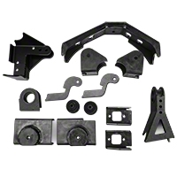 Teraflex Front Axle Bracket Kit (97-06 Wrangler TJ) - Teraflex 3690000